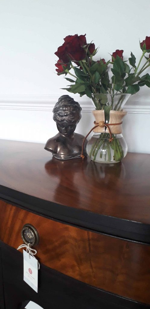vintage mahogany Buffet upcycle