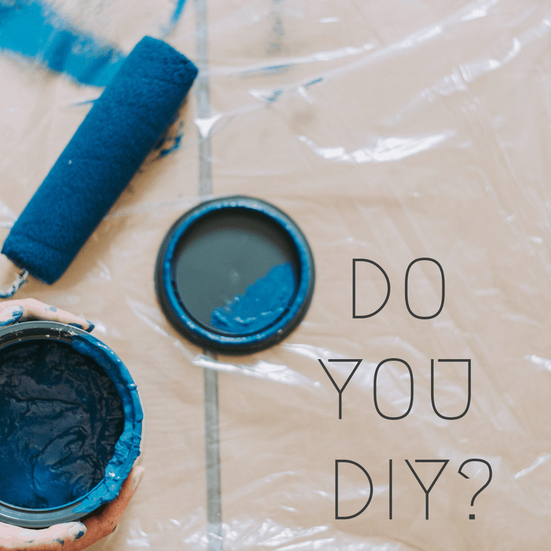 paint can and drop cloth