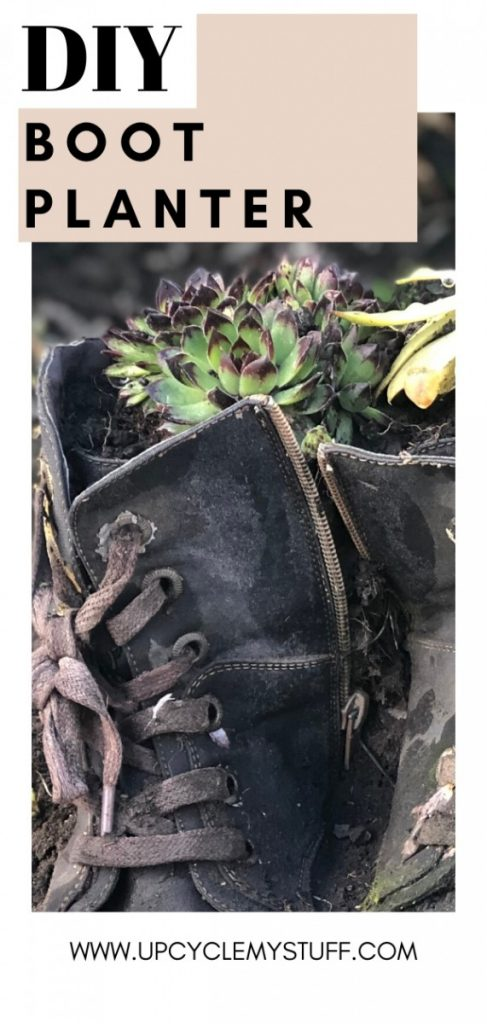boot planter upcycling idea