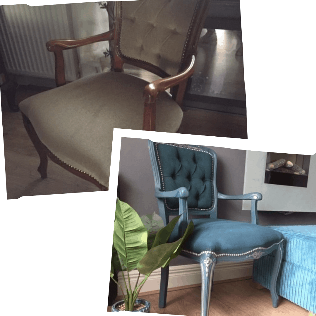 upcycle a velour armchair