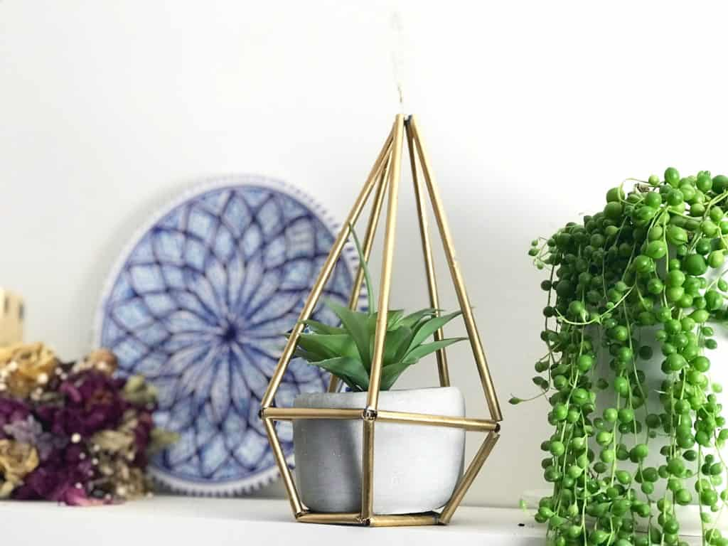 DIY geometric plant holder