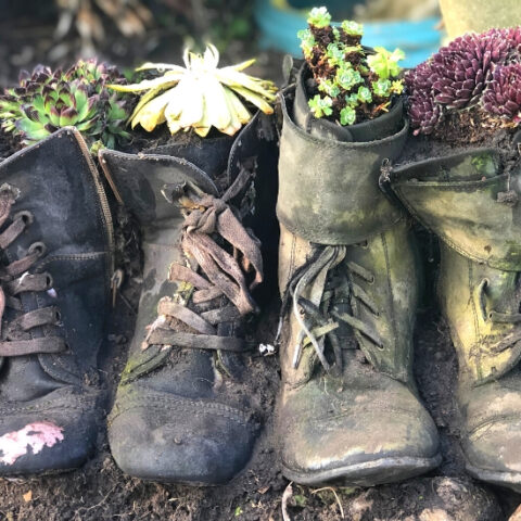 how to make boot planters