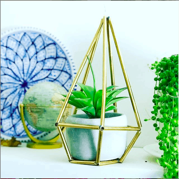 geometric succulent planter