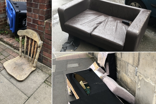 dumped furniture that could be upcycled