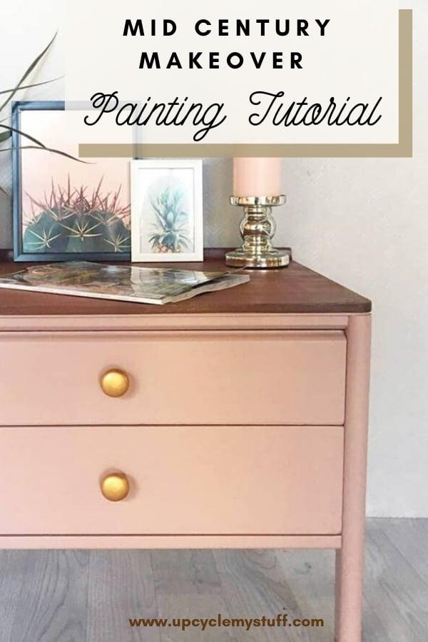 mid century modern painted furniture tutorial