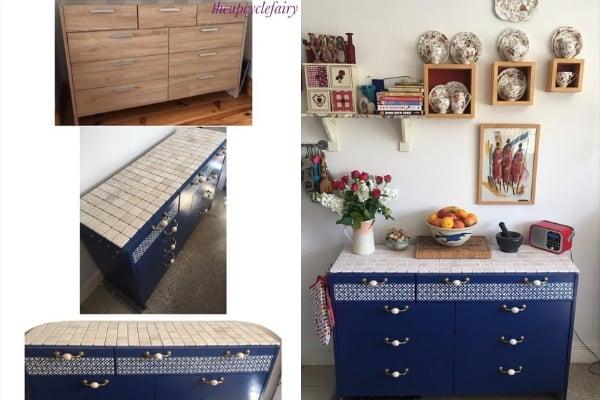 upcycled dresser turned kitchen island
