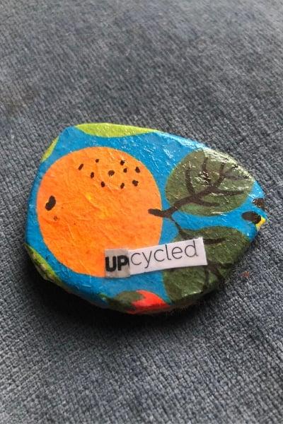 upcycled eyeglass brooch
