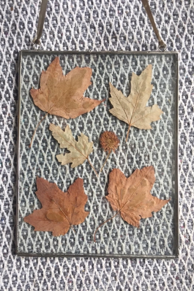 upcycled garden leaves