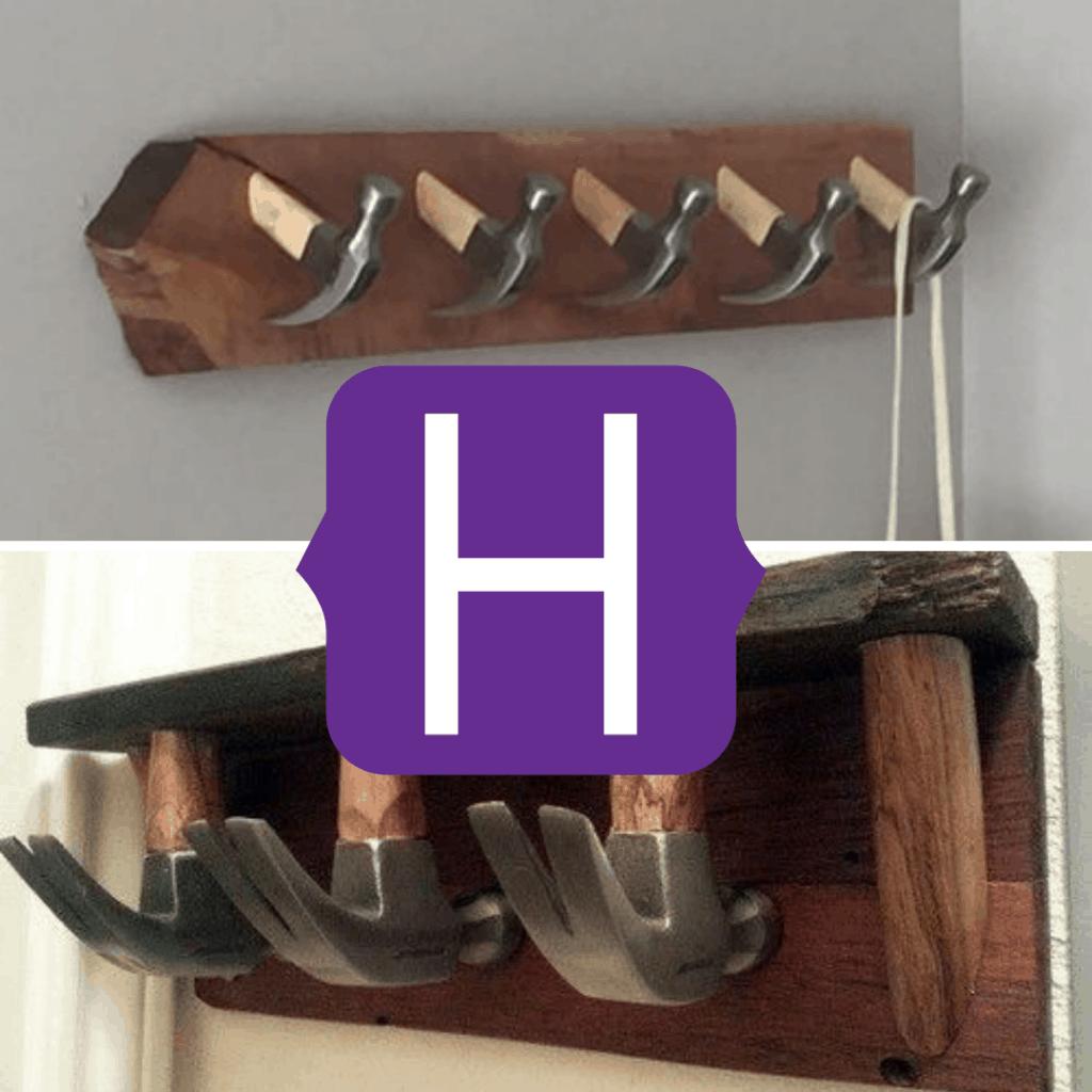 hammer coat rack