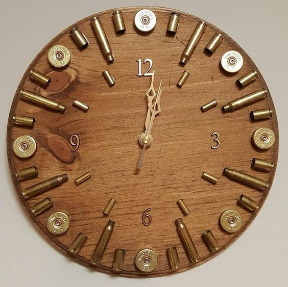 Last Minute Fathers Day Gifts Bullet Casing Clock