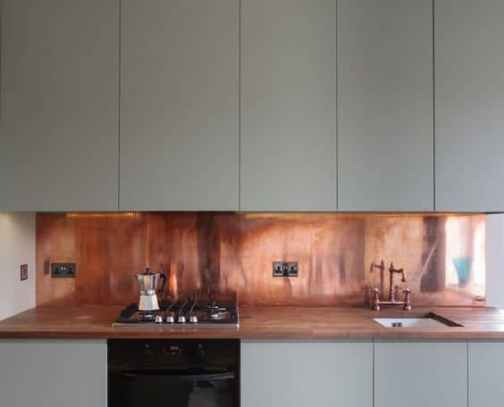 DIY Kitchen Makeover Copper Kitchen Backsplash