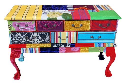 patchwork sideboard diy