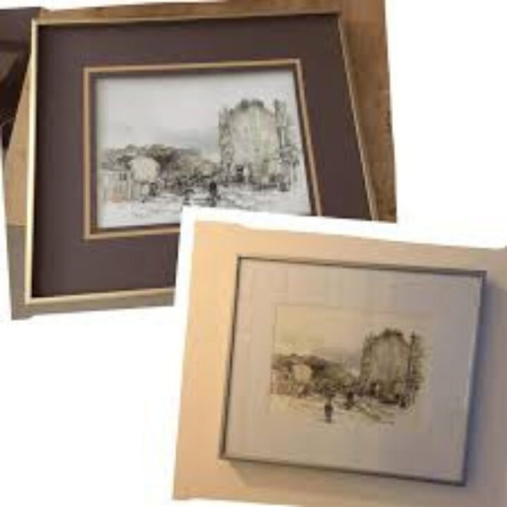 how to upcycle a modern picture frame mount