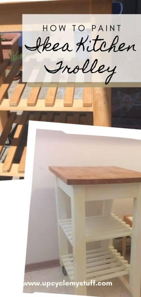 ikea kitchen trolley painting tutorial