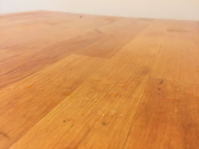 kitchen trolley top stained