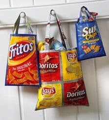 tote bag from crisp wrappers