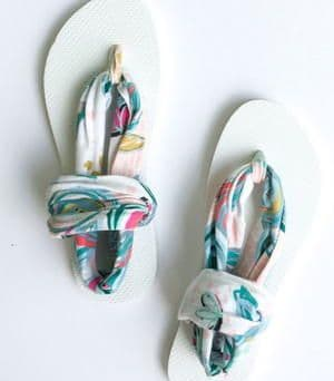 flip flop to sandal upcycle