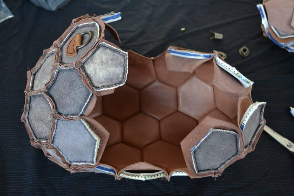 recycled soccer ball handbag