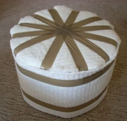 stool made from plastic bottles