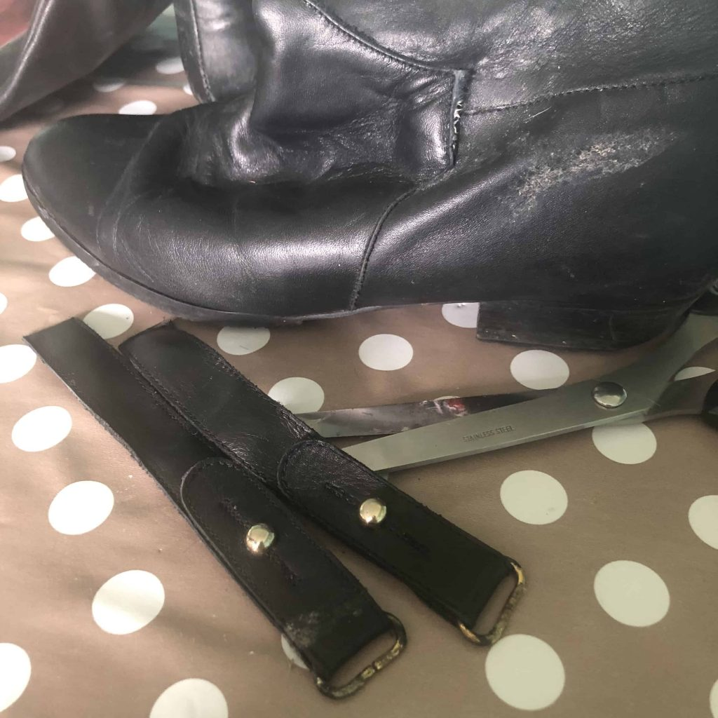 leather boot straps