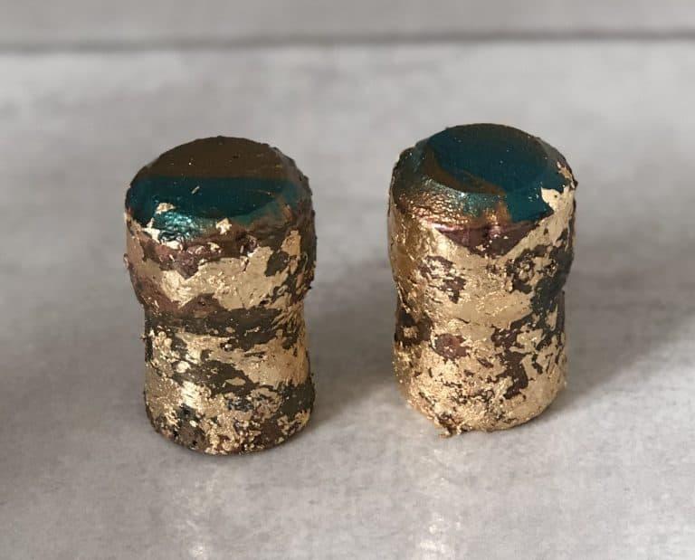 gold leaf diy drawer pulls