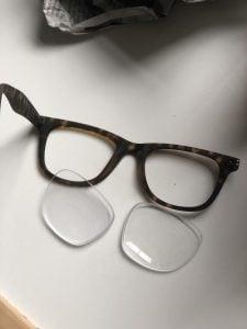 eyeglass brooch