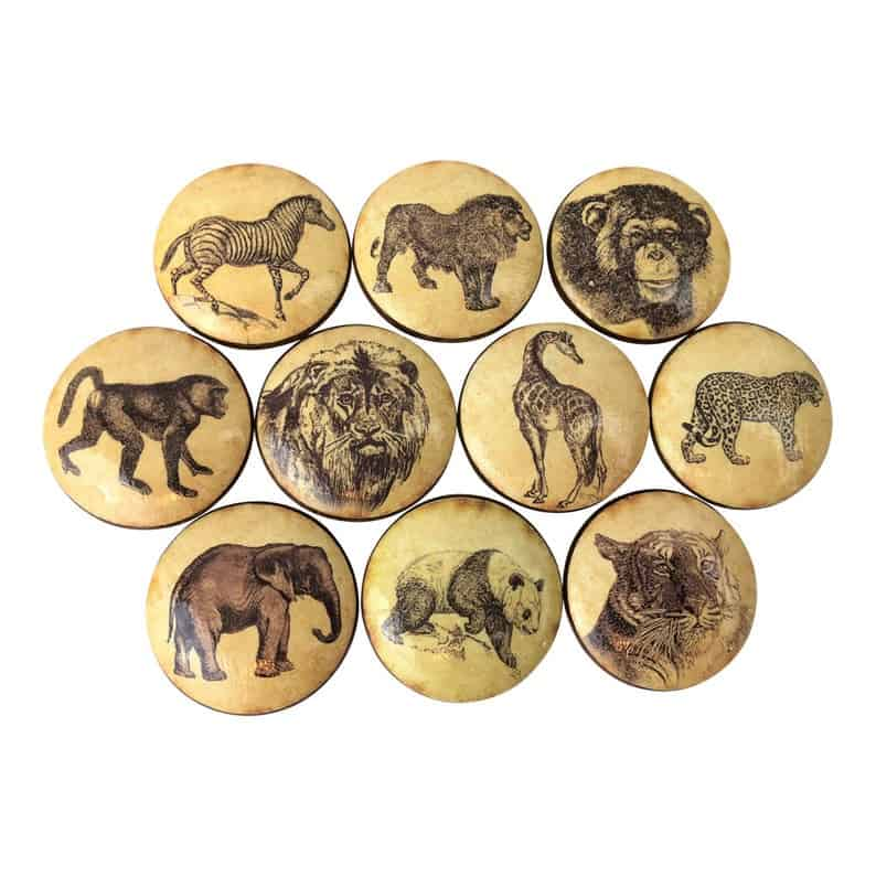 safari animals drawer pulls