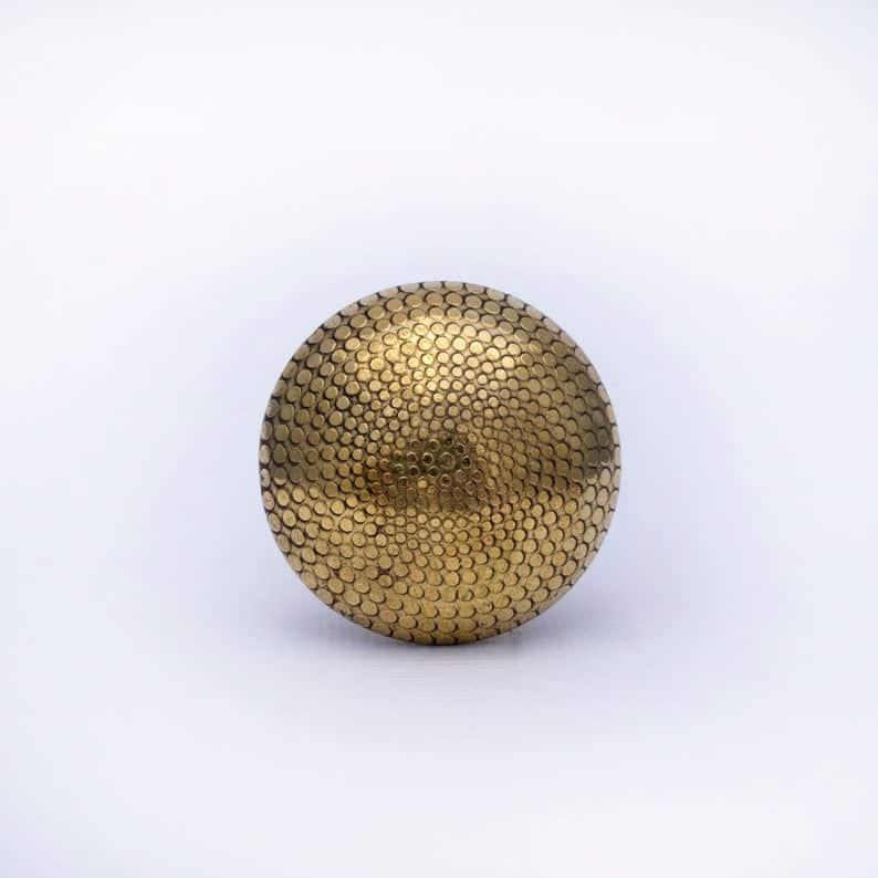 gold patterned drawer knob