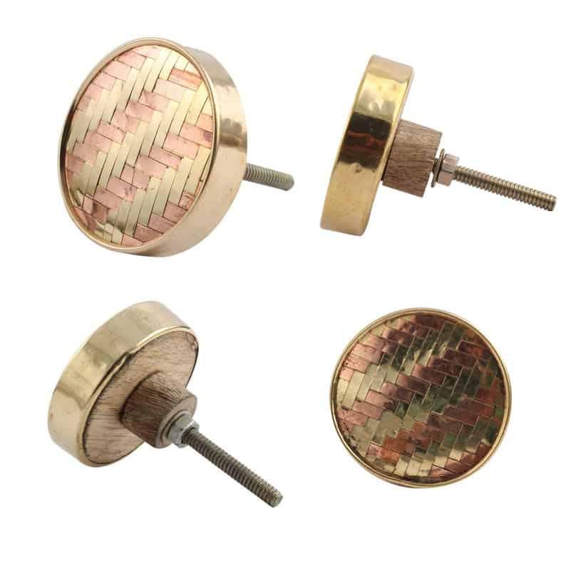 copper lattice drawer pull