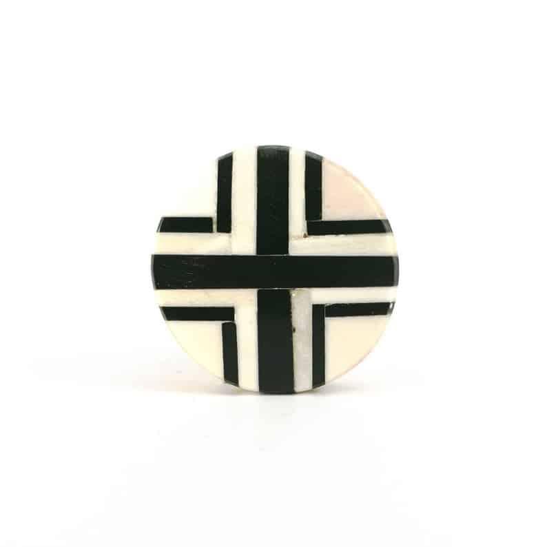 black and white inlay drawer knob