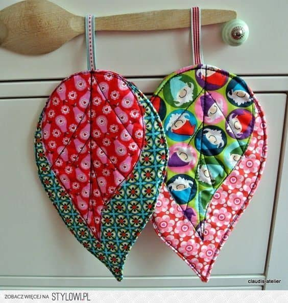 scrap fabric pot holders