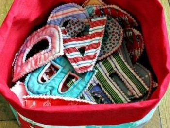 alphabet letters from scrap fabric