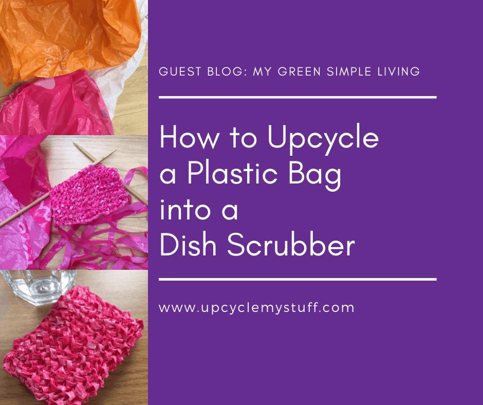 plastic bag dish scrubber tutorial
