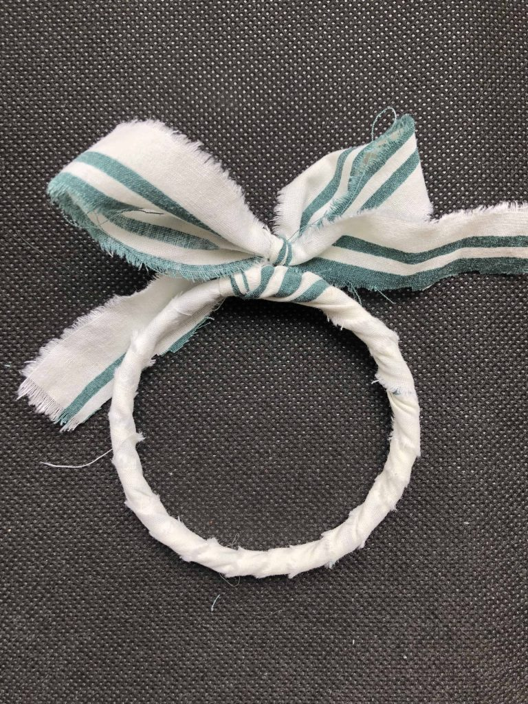 bow embellishment fabric wrapped bracelet