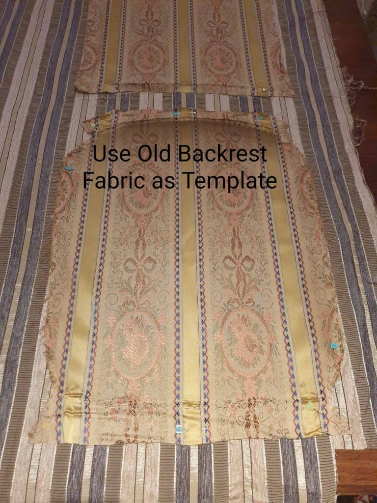 upholstery tutorial backrest fabric template