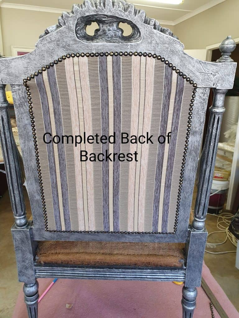 antique French fauteuil chairs upholstery tutorial