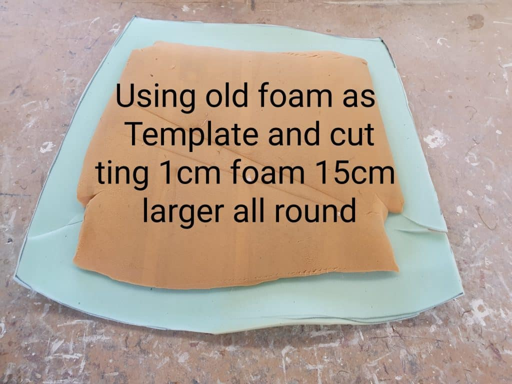 how to upholster a chair old foam template