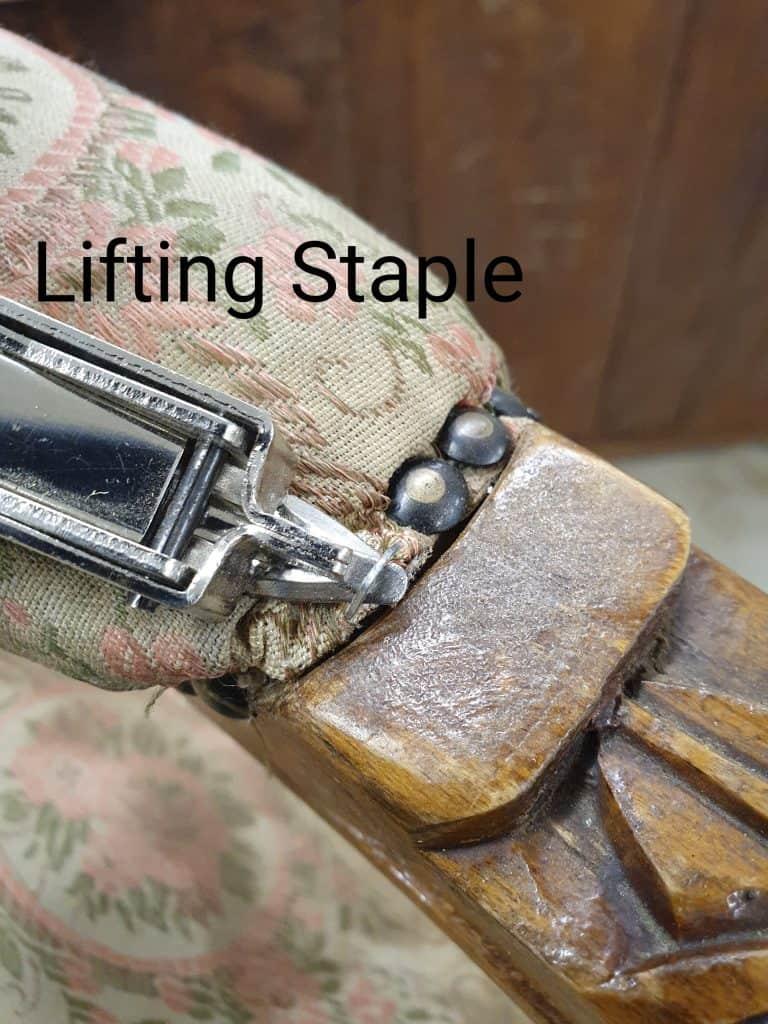 removing staples upholstery tutorial