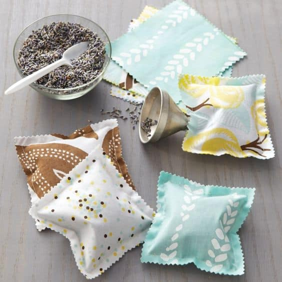 lavender sachets from scrap fabric