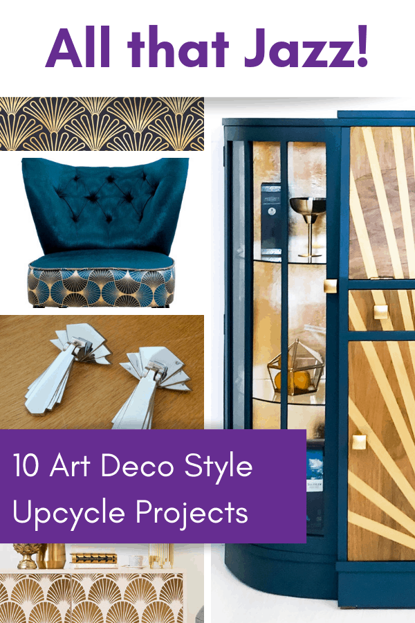 Art Deco style upcycle projects diy decor