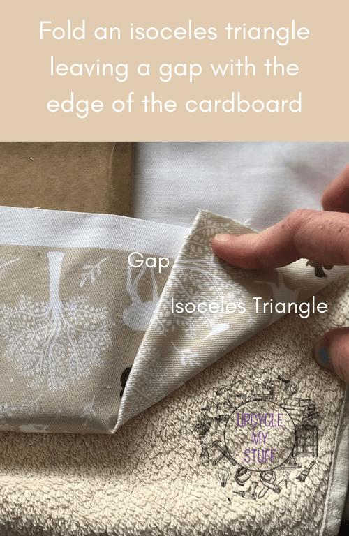 folding corners for DIY photo display board