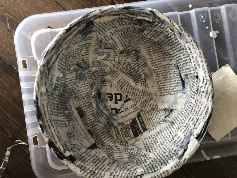 decoupage with mod podge for trinket bowls