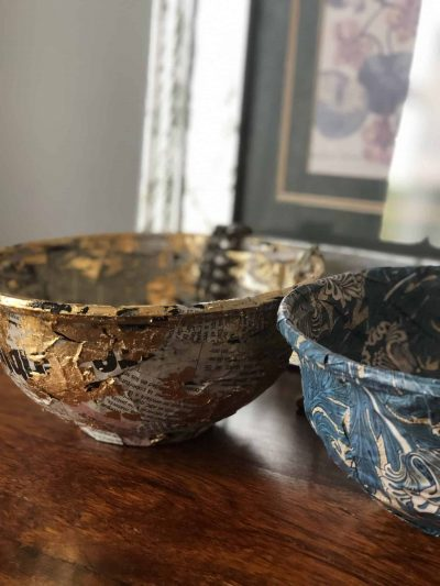 anthropology style trinket bowls from takeaway containers upcycle project