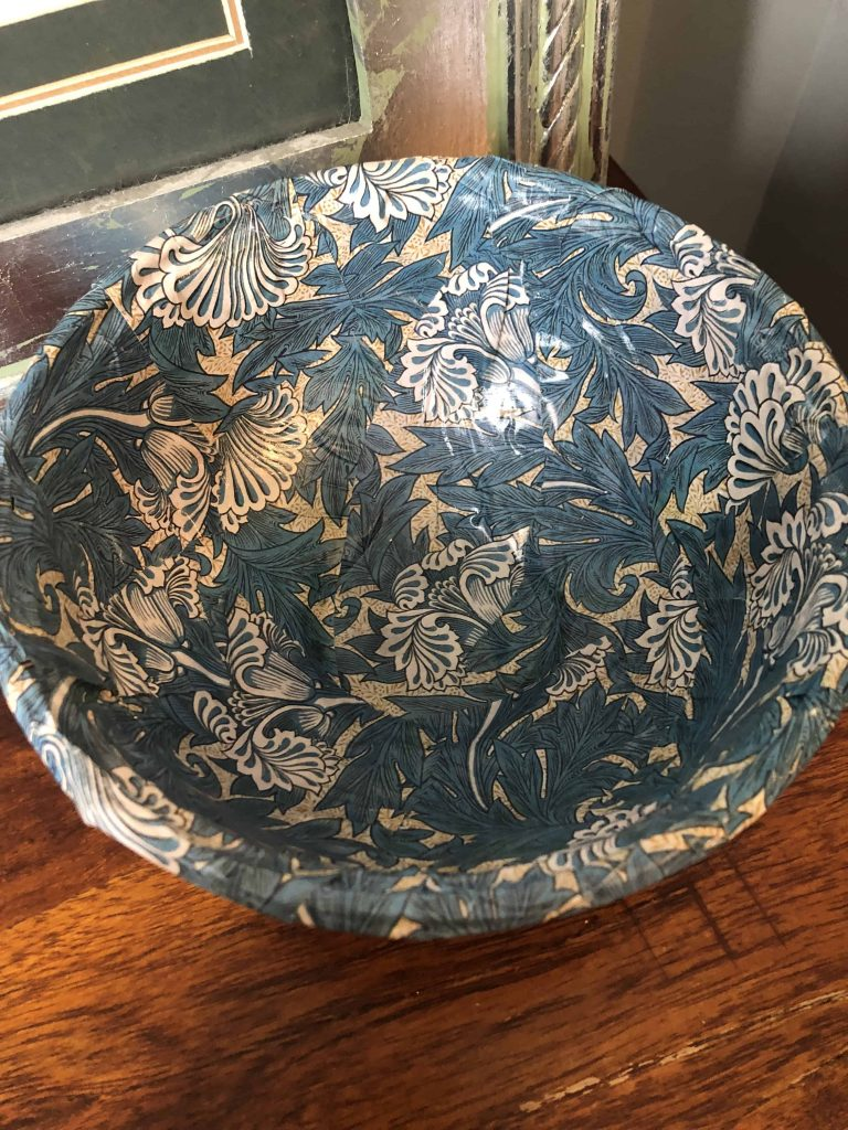 William Morris trinket bowl diy