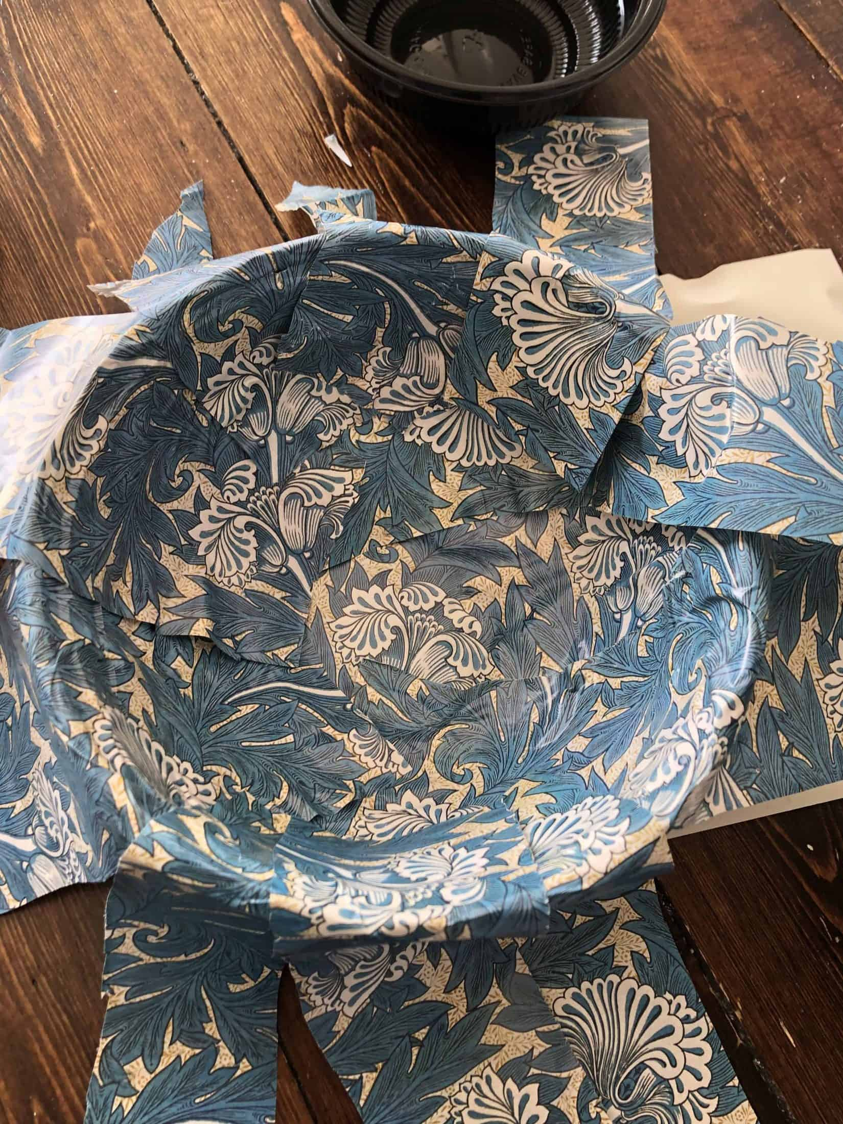 DIY William Morris trinket bowl