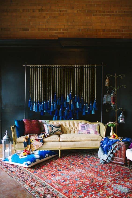 tassels wall hanging DIY