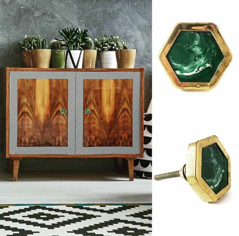 Art Deco furniture hardware
