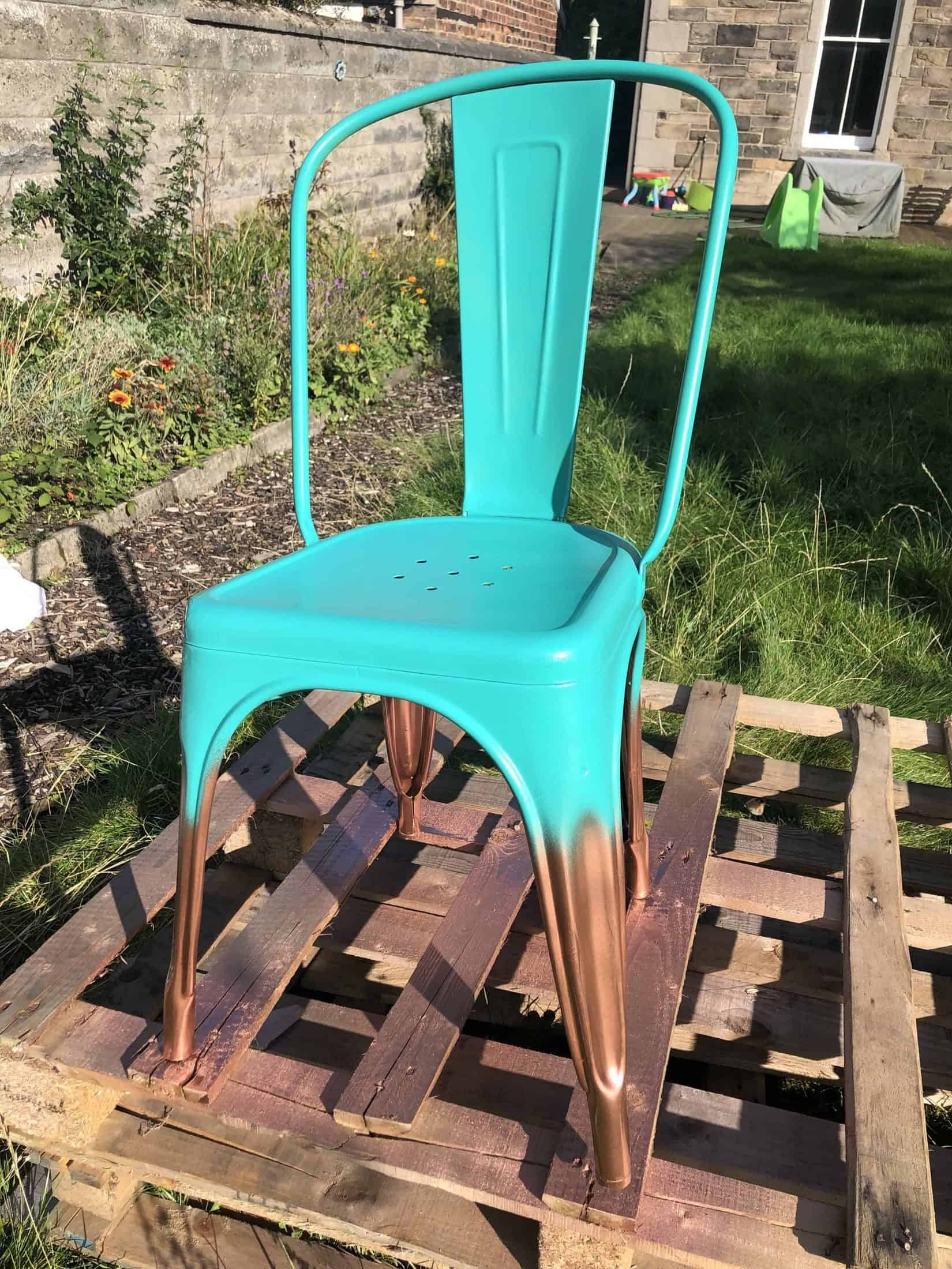 how to spray paint a chair tutorial