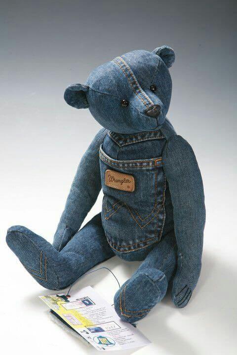 denim teddy bear tutorial with pattern