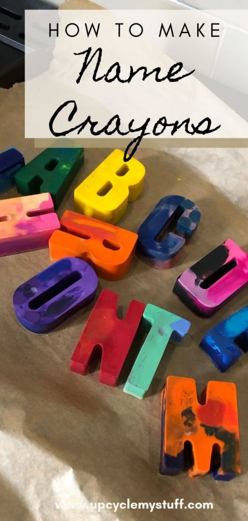 diy how to make name crayons